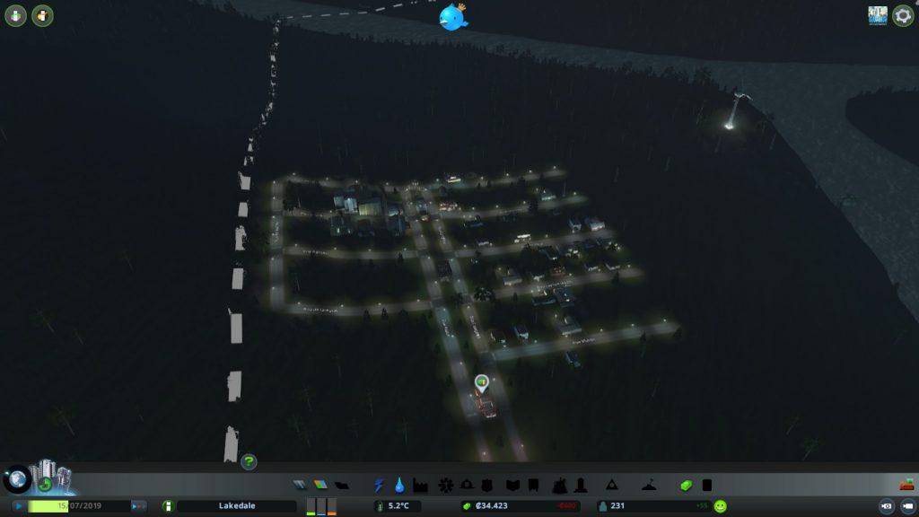 Naufráville à noite